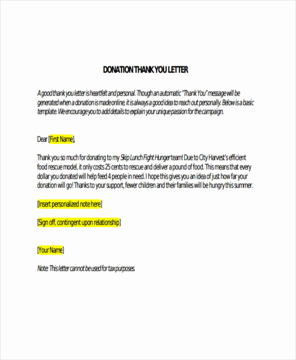 Thank You Note Sample Lovely 74 Thank You Letter Examples Doc Pdf