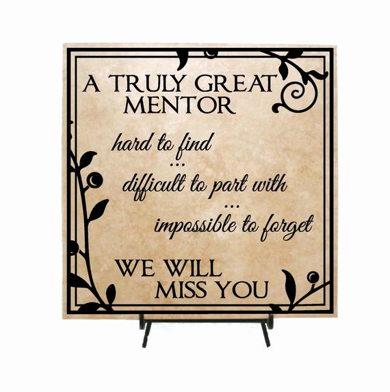 Thank You Note to Mentor Fresh Truly Great Mentor Personalized Retirement Sign Thank You