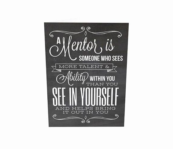 Thank You Note to Mentor Lovely Mentor Gift Mentor Teacher Gift Teacher Appreciation