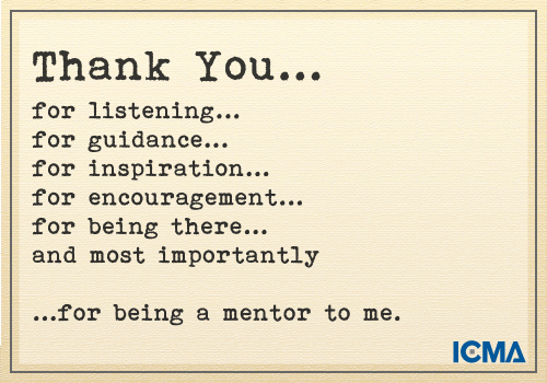 """Thank You Note to Mentor New """"thank You for Being A Mentor to Me"""""""