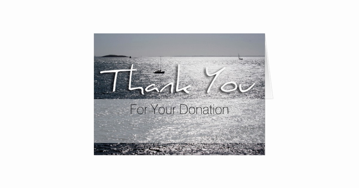 Thank You Notes for Donations Best Of Seascape Memorial Donation Thank You Note Card