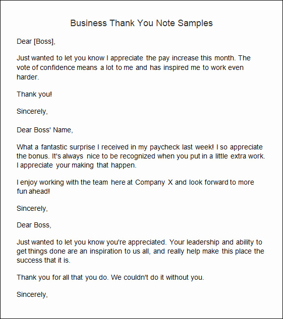 Thank You Notes Samples Luxury Sample Thank You Note 9 Documents In Word Pdf