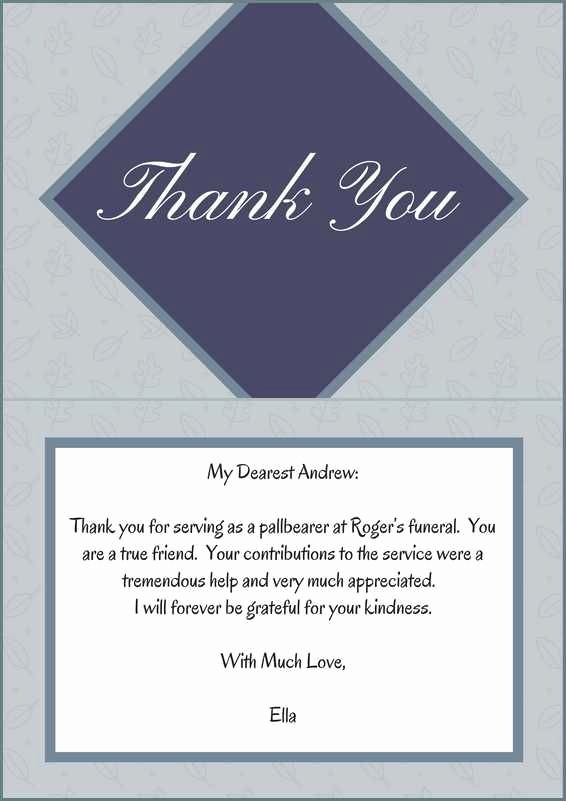 Thank You Notes Samples New 33 Best Funeral Thank You Cards