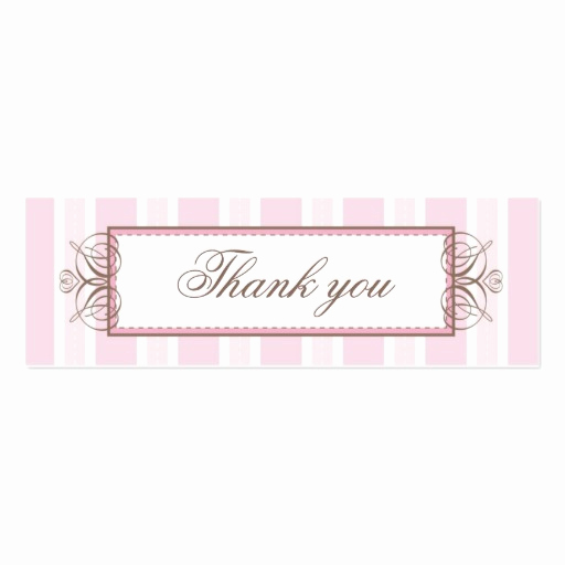 Thank You Tag Template Best Of Thank You Gift Tag Paris Stripe Double Sided Mini