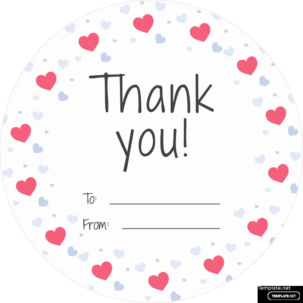 Thank You Tag Template Fresh Free Round Thank You Tag Template In Adobe Shop