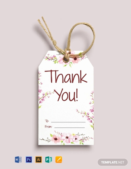 Thank You Tag Template Inspirational 49 Free Tag Templates [download Ready Made Samples