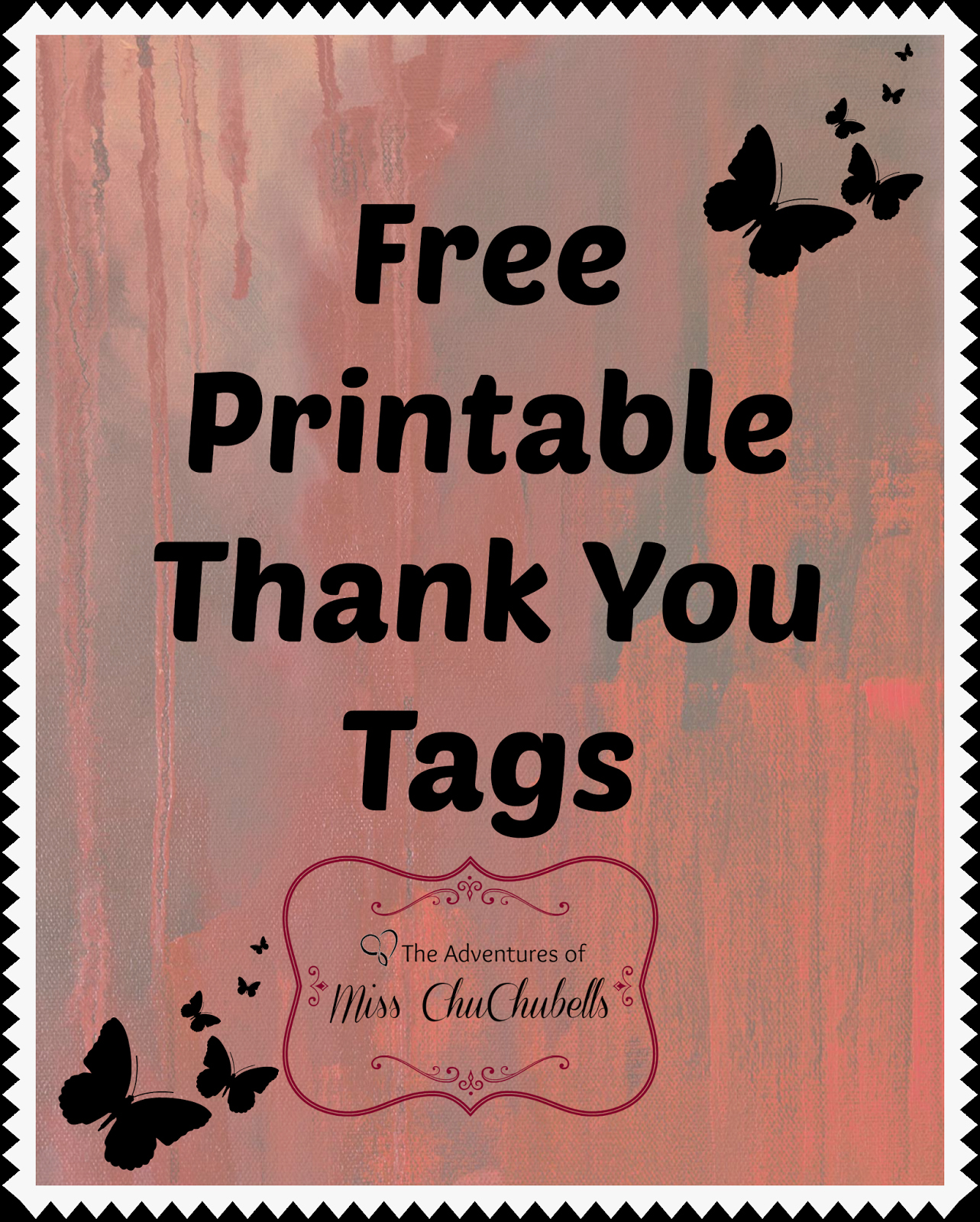 Thank You Tag Template Inspirational the Adventures Of Miss Chuchubells January 2014