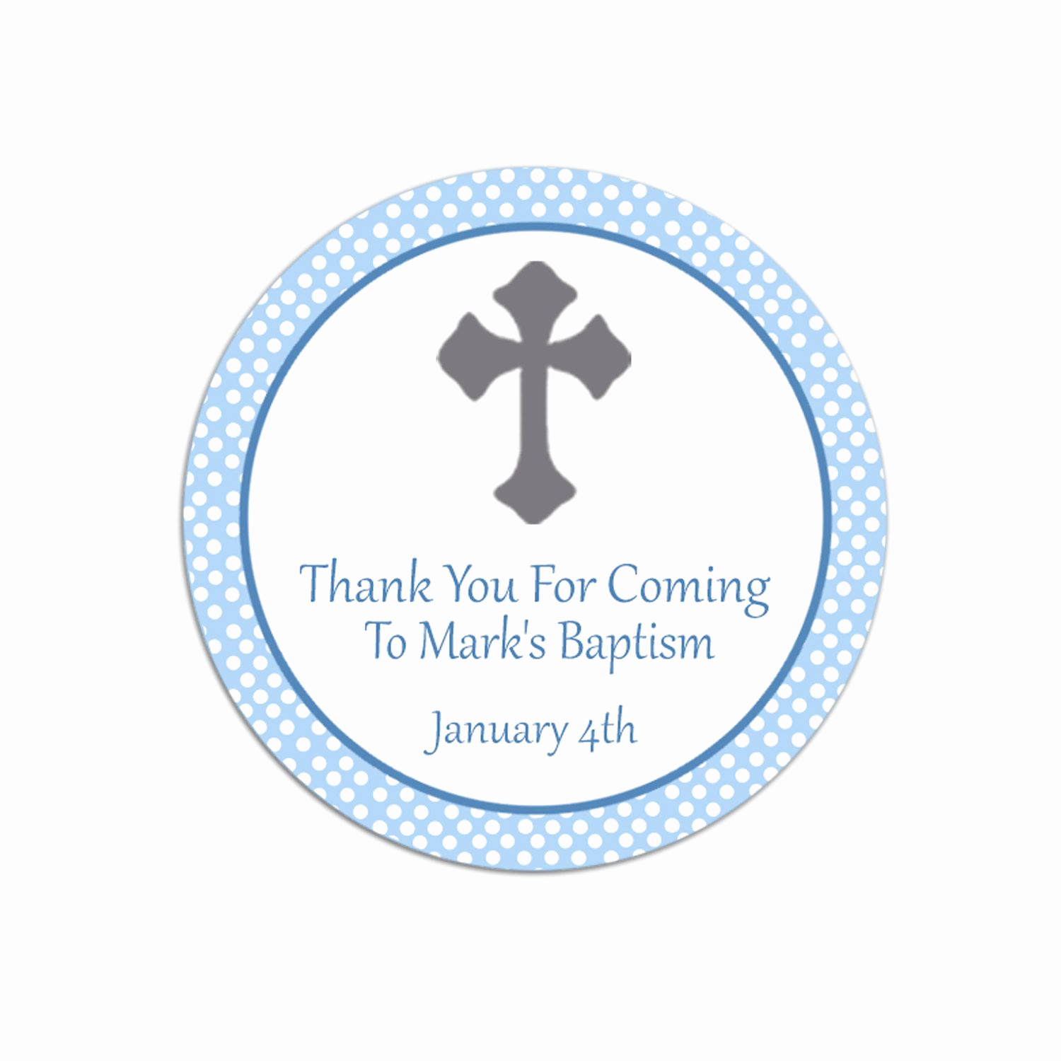 Thank You Tag Template Lovely Baptism Thank You Favor Tags Template Free