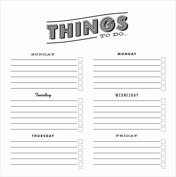Things to Do List Template Awesome Sample to Do Checklist 9 Documents In Pdf Word