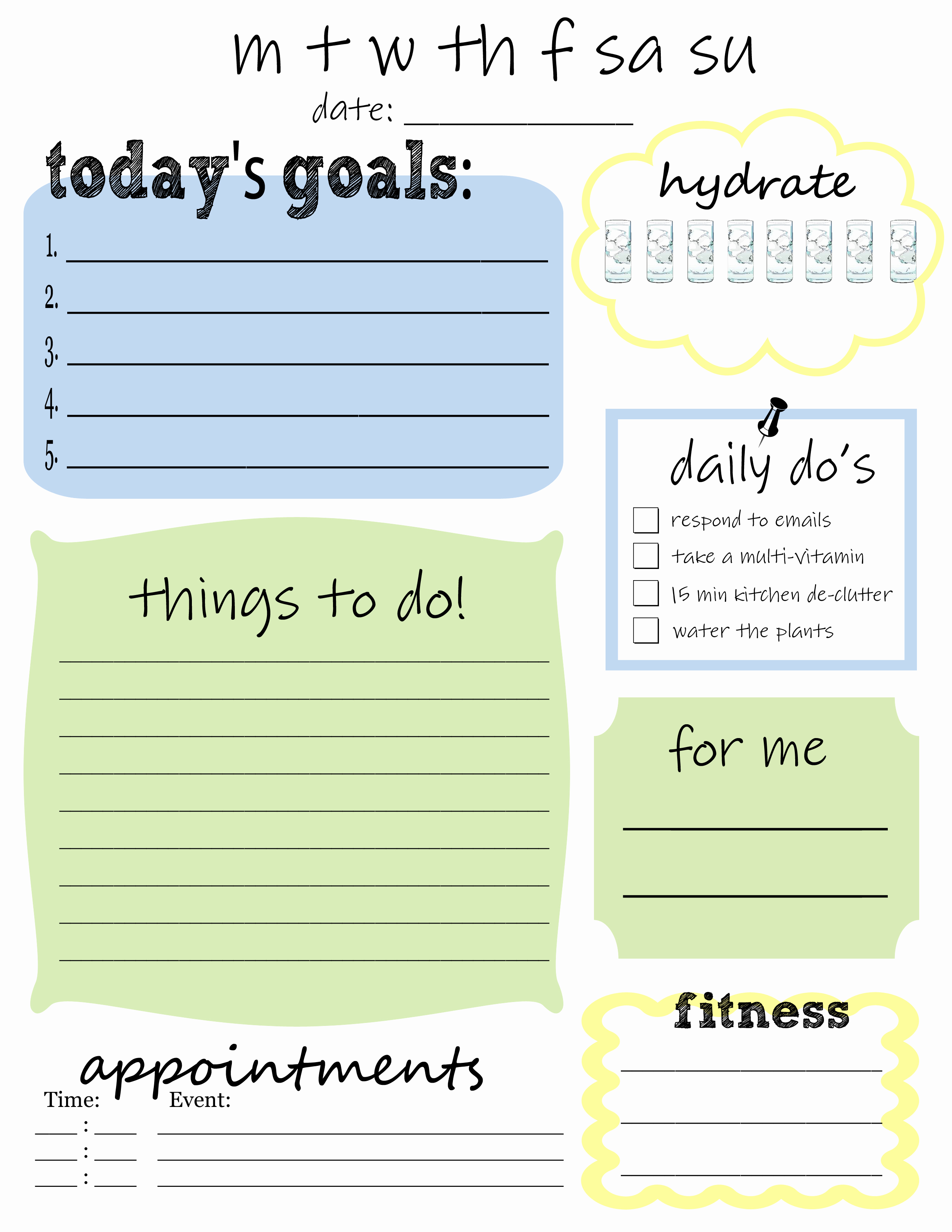 Things to Do List Template Beautiful 25 Printables for organizing Life after Laundry