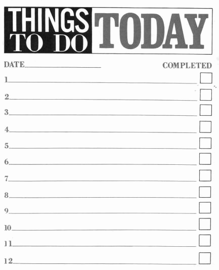 Things to Do List Template Best Of 10 Printable to Do List Templates Excel Templates