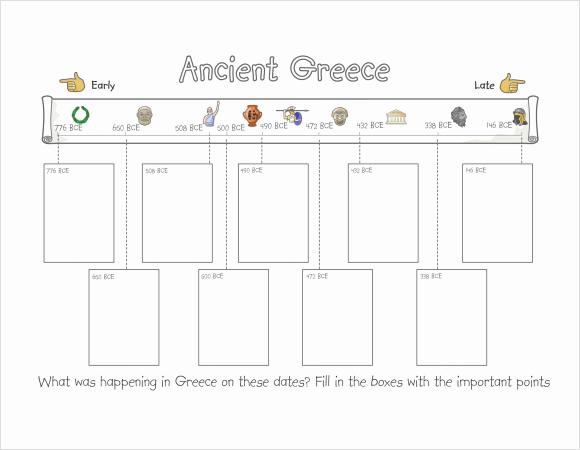 Timeline Templates for Kids Elegant 8 Timeline for Student Samples