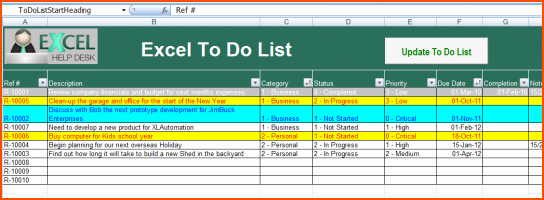 To Do List Template Excel Awesome 8 Excel to Do List Template Bookletemplate