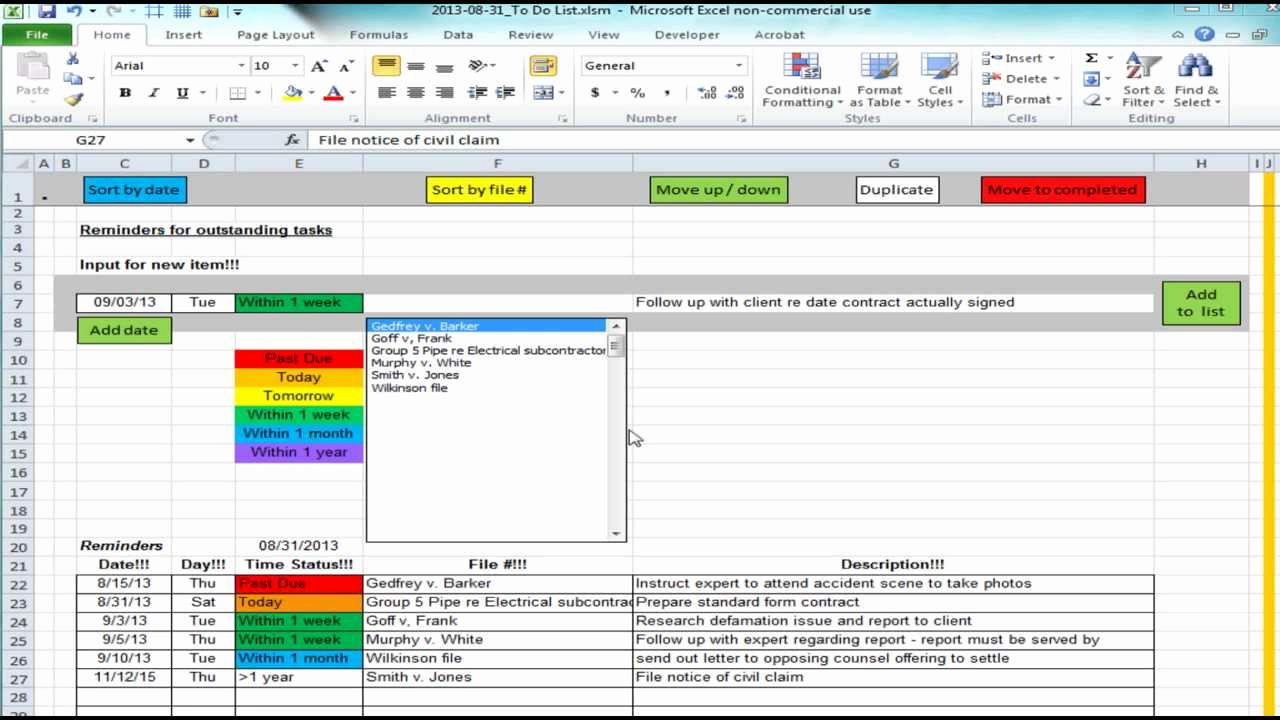 To Do List Template Excel Awesome Excel Spreadsheet Providing List Of Reminders Future