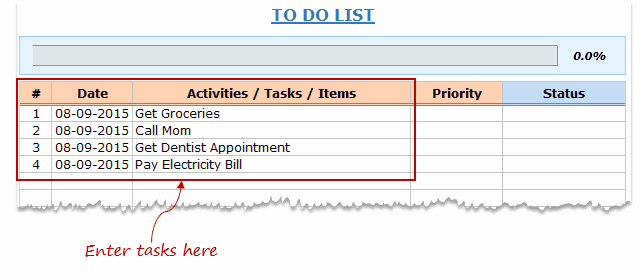 To Do List Template Excel Awesome Excel to Do List Template [free Download]