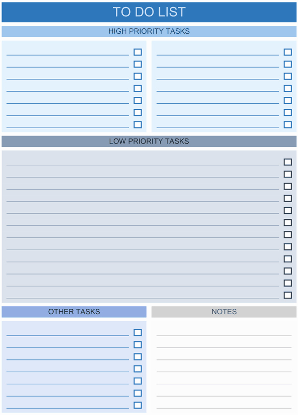 To Do List Template Excel New to Do List Templates for Excel
