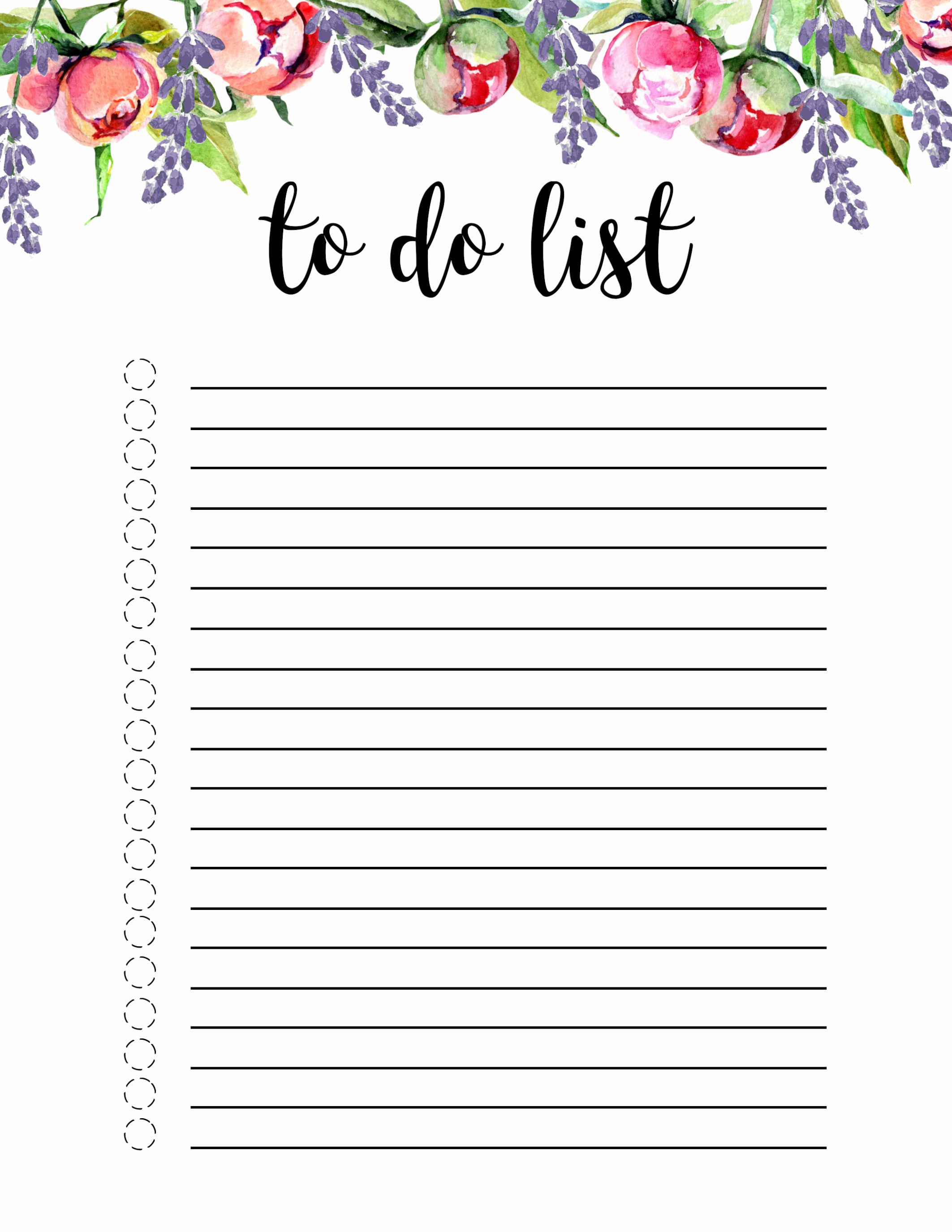 To Do List Templates Inspirational Floral to Do List Printable Template Paper Trail Design