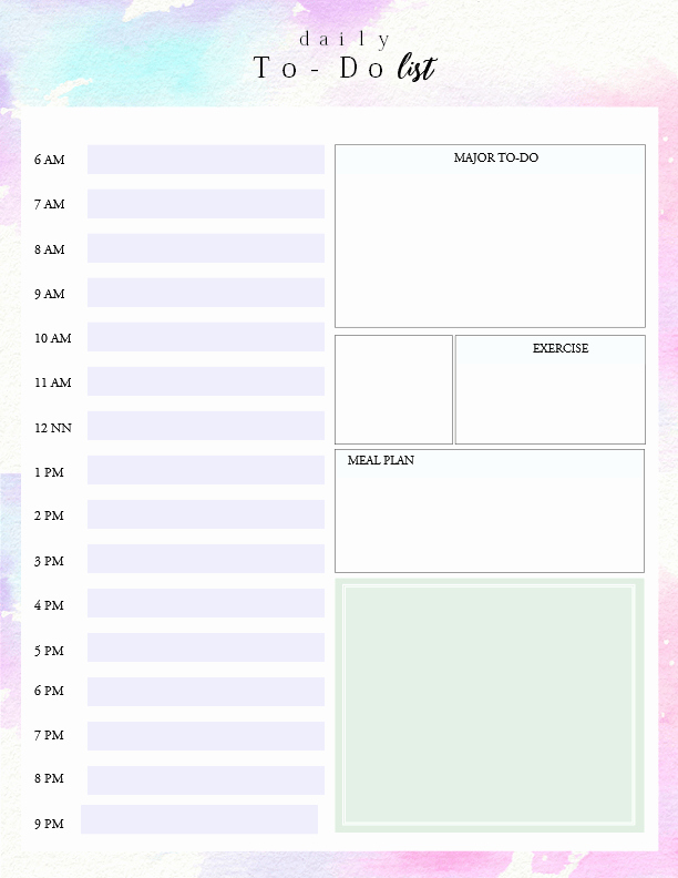To Do List Templates Unique Printable Daily to Do List Template to Get Things Done