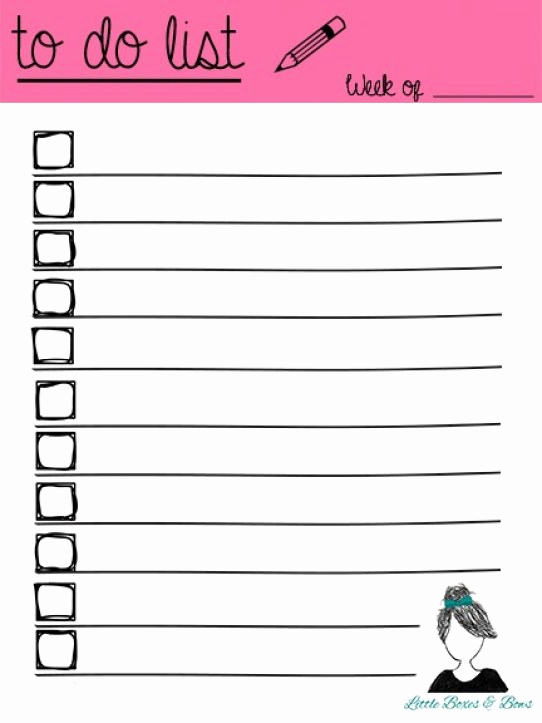 To Do List Templates Word Unique 5 Printable to Do List Templates Excel Xlts