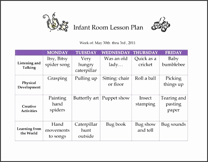 Toddler Lesson Plan Ideas Beautiful 6 Creative Curriculum Preschool Lesson Plan Template