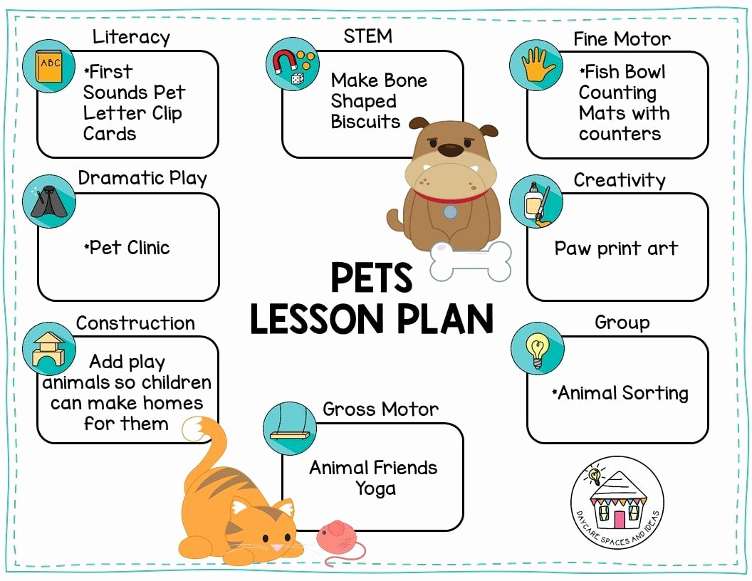 Toddler Lesson Plan Ideas Beautiful Pets & Vets theme Week