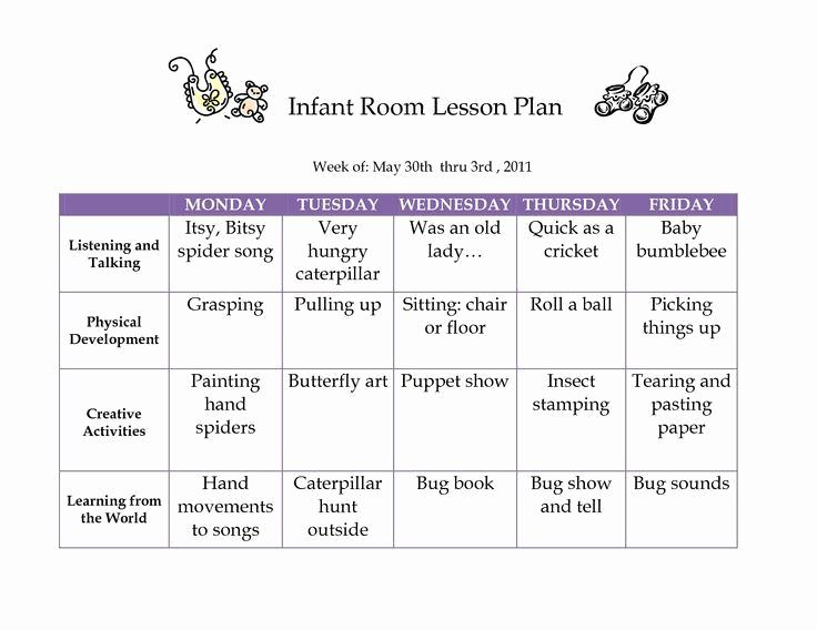 Toddler Lesson Plan Ideas Best Of Creative Curriculum