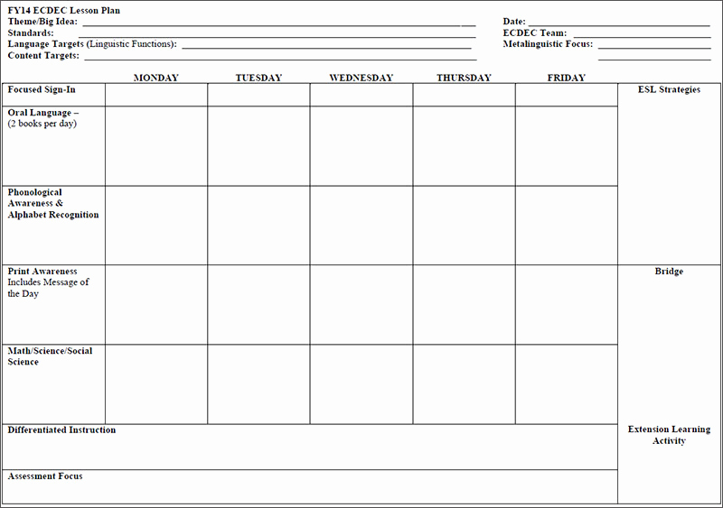 Toddler Lesson Plan Template Beautiful 7 Preschool Lesson Template Free Word Excel Pdf formats