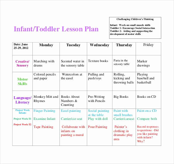Toddler Lesson Plan Template Best Of 59 Lesson Plan Templates Pdf Doc Excel