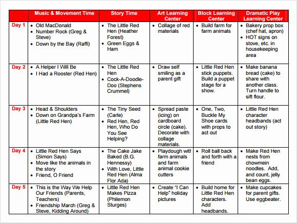 Toddler Lesson Plan Template Inspirational Sample Preschool Lesson Plan 10 Pdf Word formats