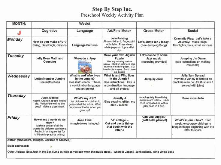 Toddler Lesson Plan Template Lovely Emergent Curriculum Preschool Lesson Plan Template
