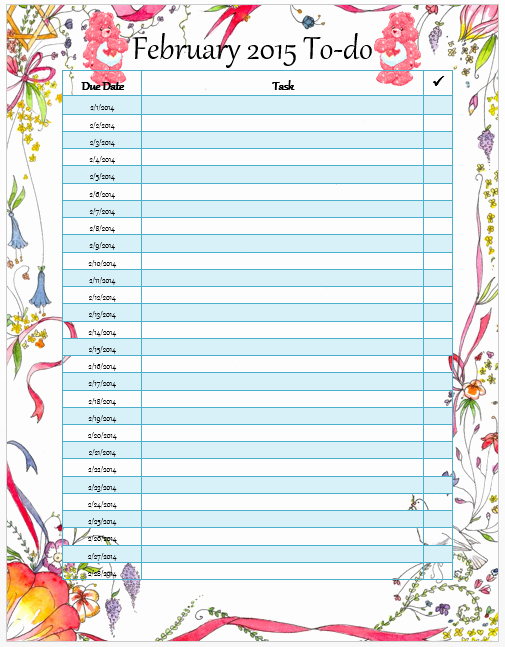 Todo List Template Word Best Of Monthly to Do List Template Microsoft Word Templates