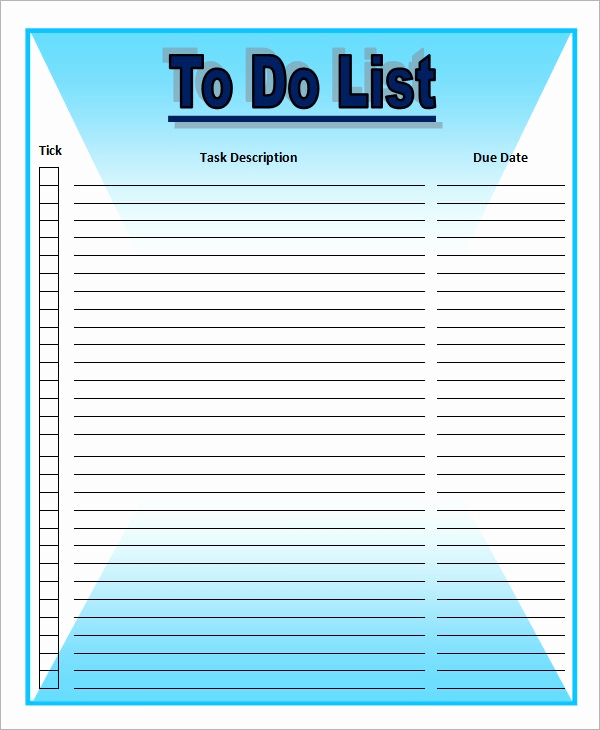 Todo List Template Word Luxury to Do List Template 16 Download Free Documents In Word