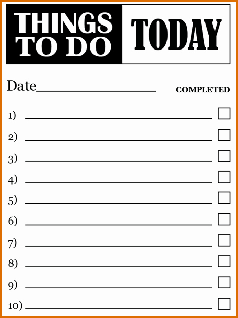 Todo List Template Word Unique 7 to Do Lists Templates