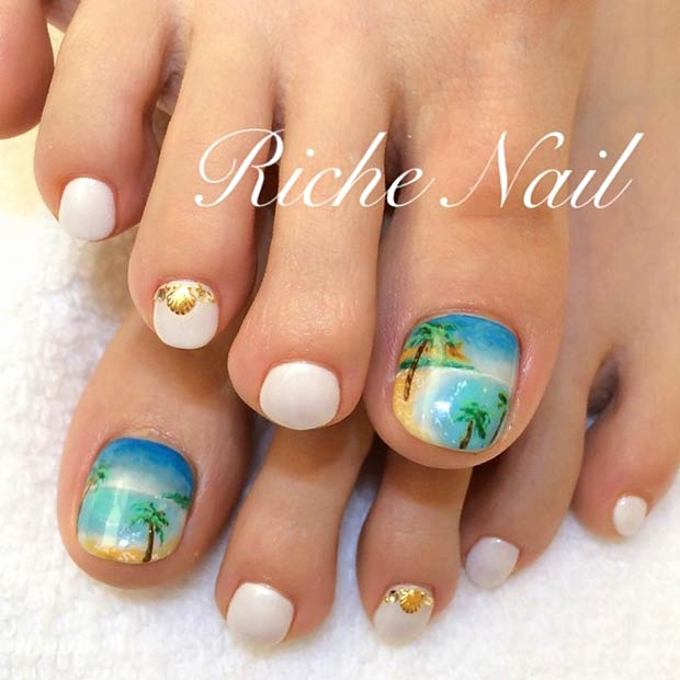 Toe Nail Art Designs Luxury 51 Adorable toe Nail Designs for This Summer