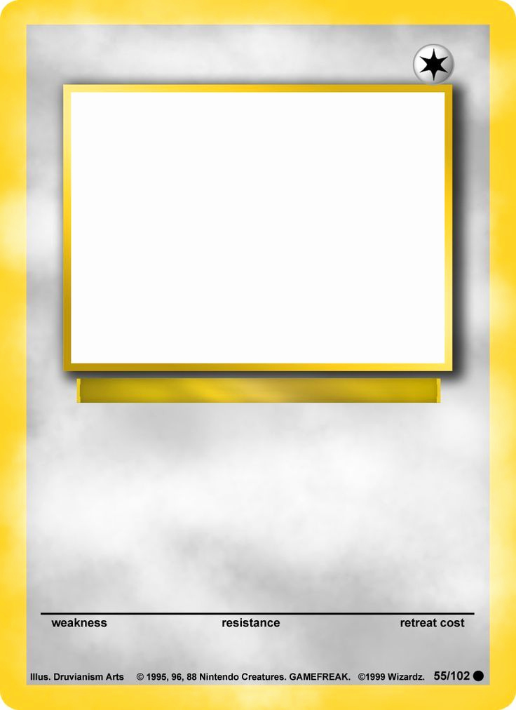 Trading Card Template Word Elegant Blank Pokemon Card Template Blank Pokemon Card Mega