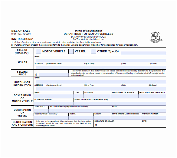 Trailer Bill Of Sale Template Awesome Trailer Bill Of Sale – 8 Free Sample Example format