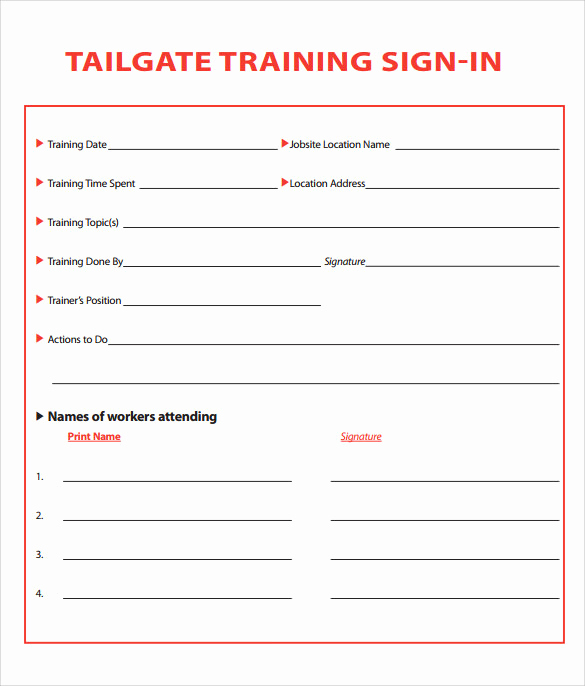 Training Sign In Sheet Inspirational Sample Training Sign In Sheet 15 Documents In Pdf