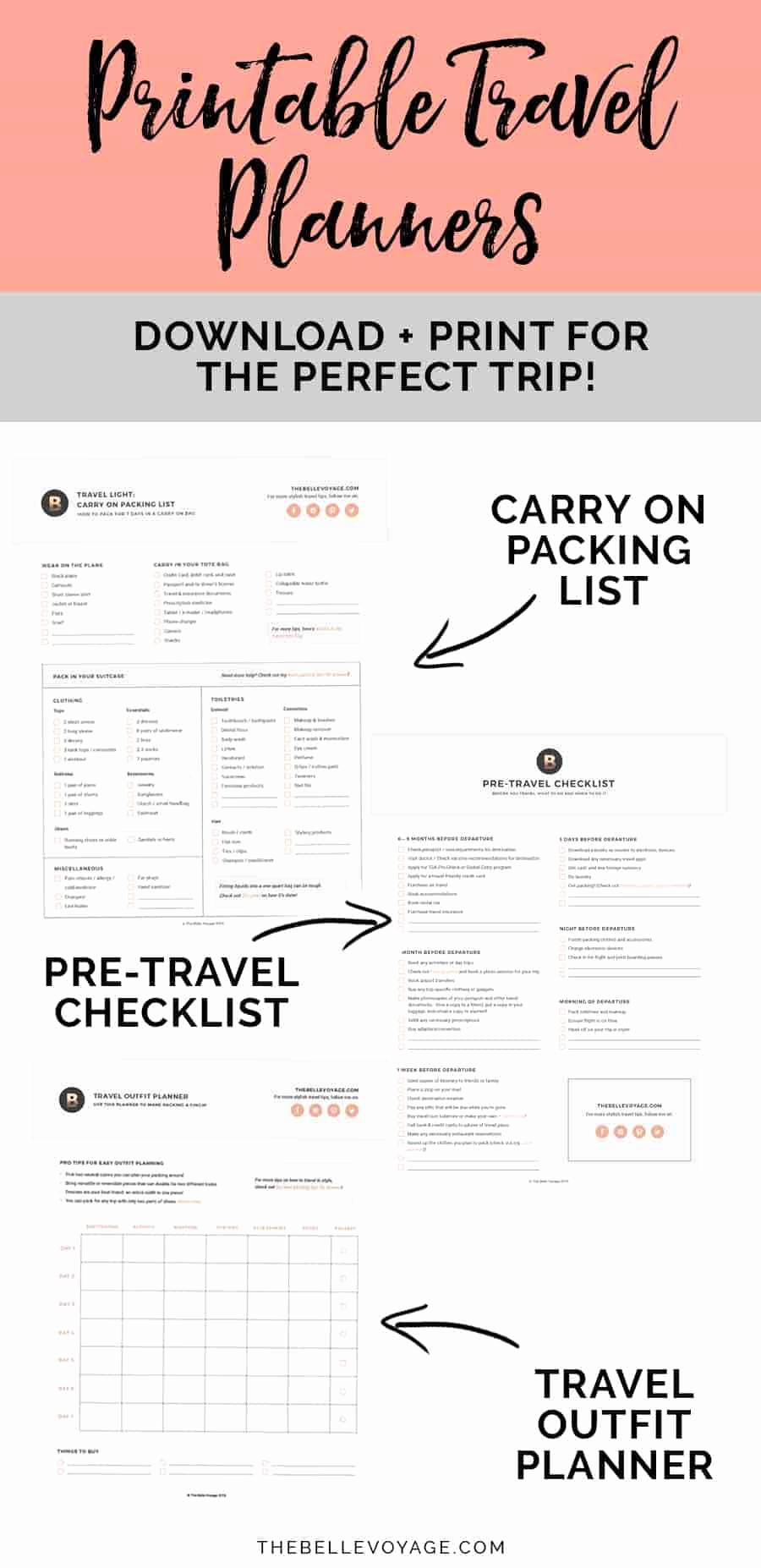 Travel Packing Checklist Pdf Luxury Printable Ultimate Packing Checklist for Travel