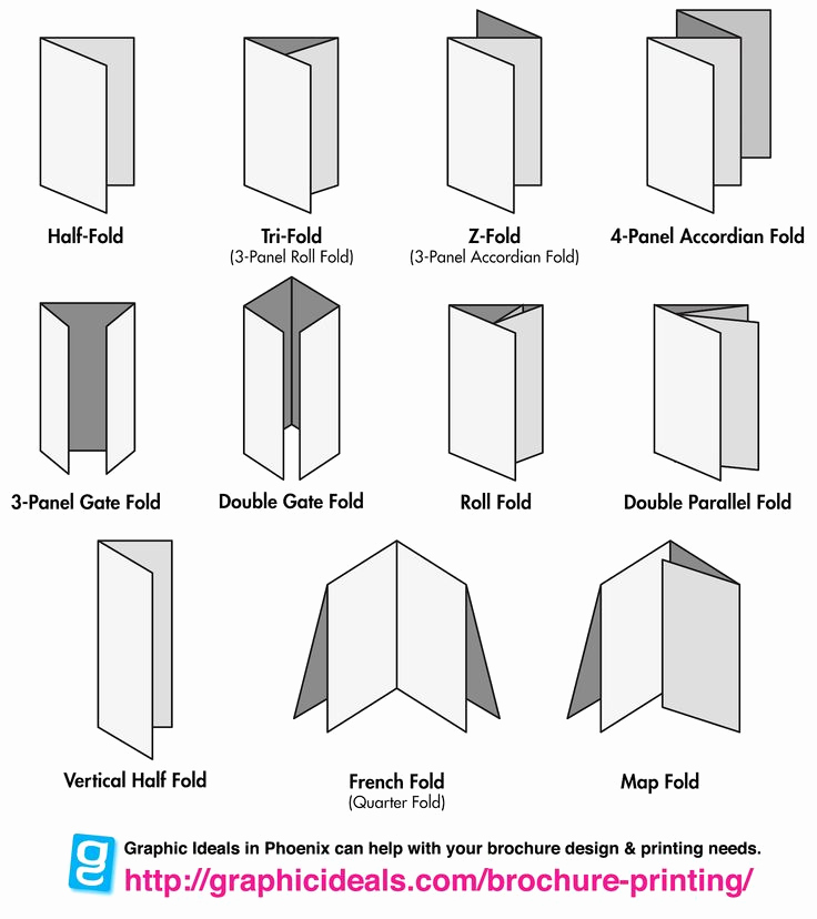 Tri Fold Brochure Size Awesome 1000 Images About Folding and Binding On Pinterest