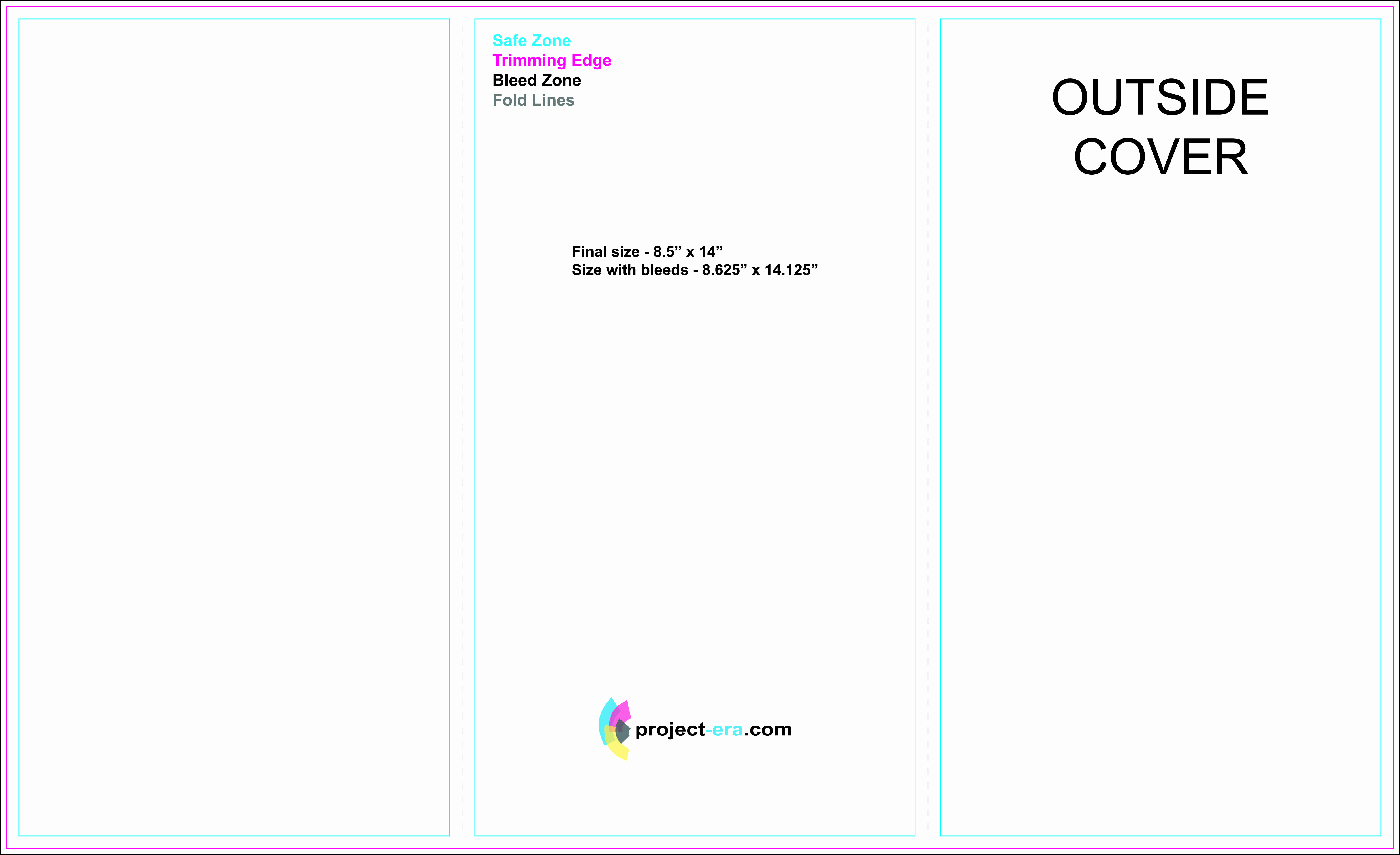"""Tri Fold Brochure Size Awesome Free Tri Fold Brochure Templates Based On 8 5"""" X 14"""" Paper"""