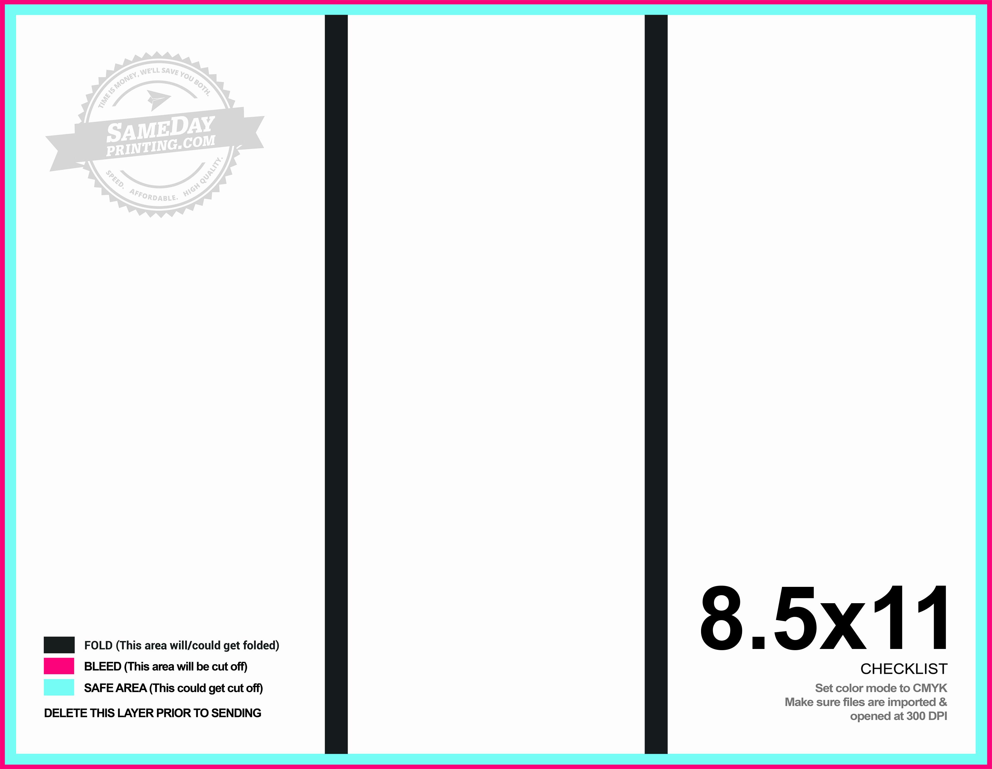 Tri Fold Brochure Size Best Of 8 5x11 Tri Fold Brochure Printing