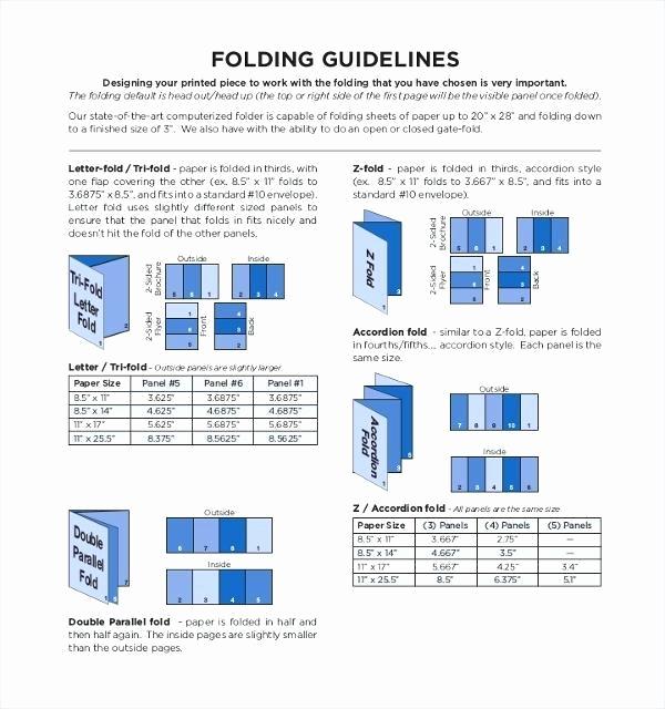 Tri Fold Brochure Size Best Of Standard Tri Fold Size