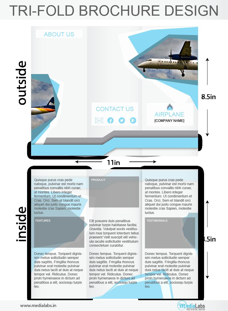 Tri Fold Brochure Size Elegant 2d Animation Pany