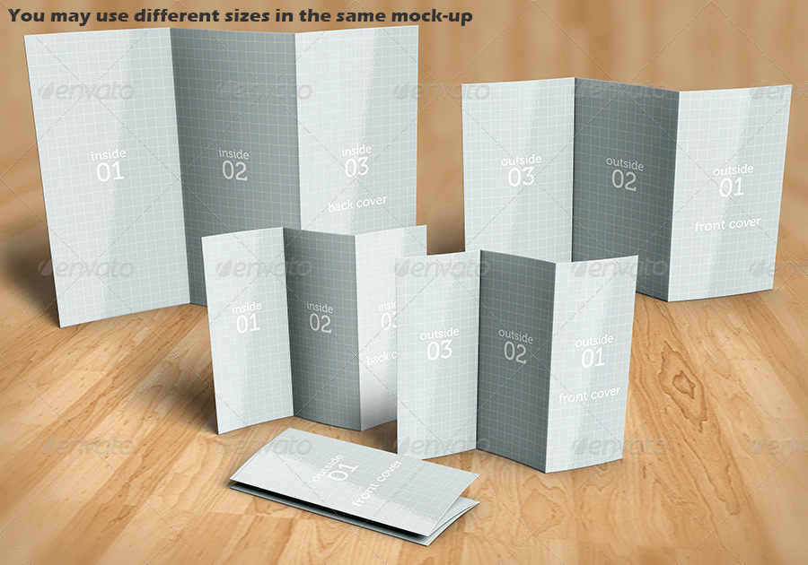 Tri Fold Brochure Size Elegant Tri Fold Brochure Mock Up Kit by Logic Design