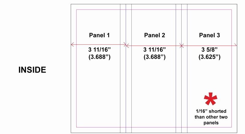 Tri Fold Brochure Size Inspirational Standard Tri Fold Size