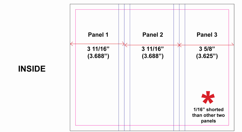 Tri Fold Brochure Size Lovely How to Set Up Tri Fold Brochures that Fold Correctly
