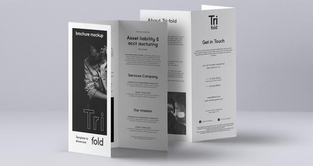 Tri Fold Brochure Size Luxury Psd Tri Fold Mockup Us A4 Vol3