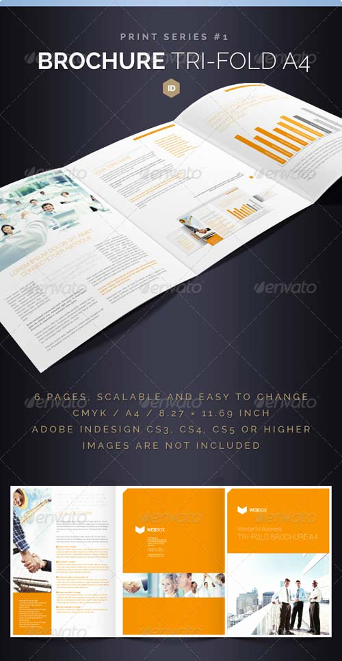 Tri Fold Brochure Size New Graphicriver Brochure Tri Fold A4 Series 1