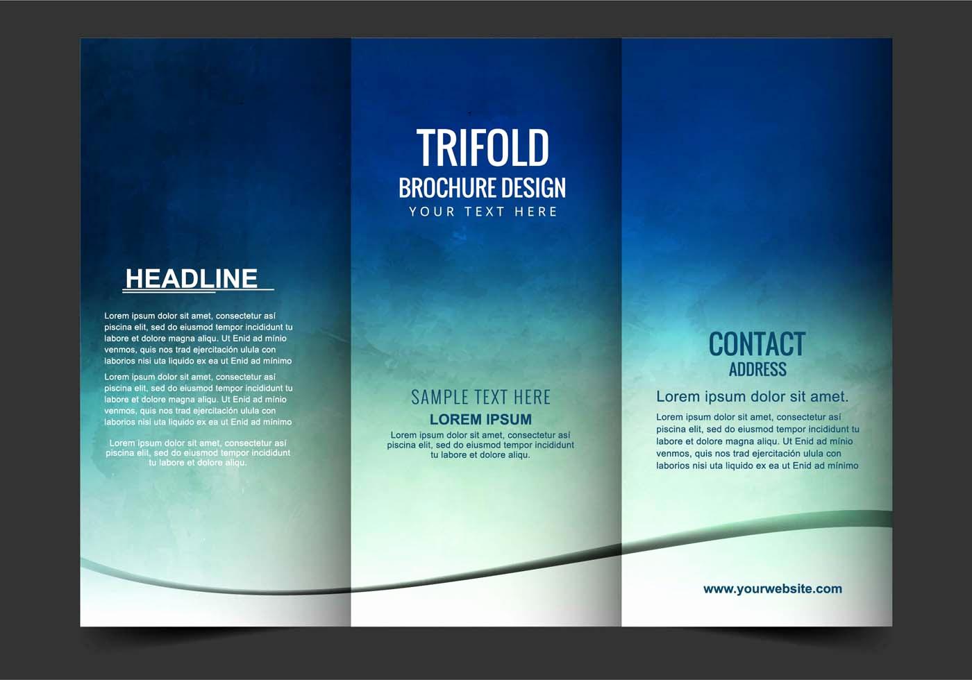 Tri Fold Brochure Size Unique Vector Tri Fold Brochure Download Free Vector Art Stock