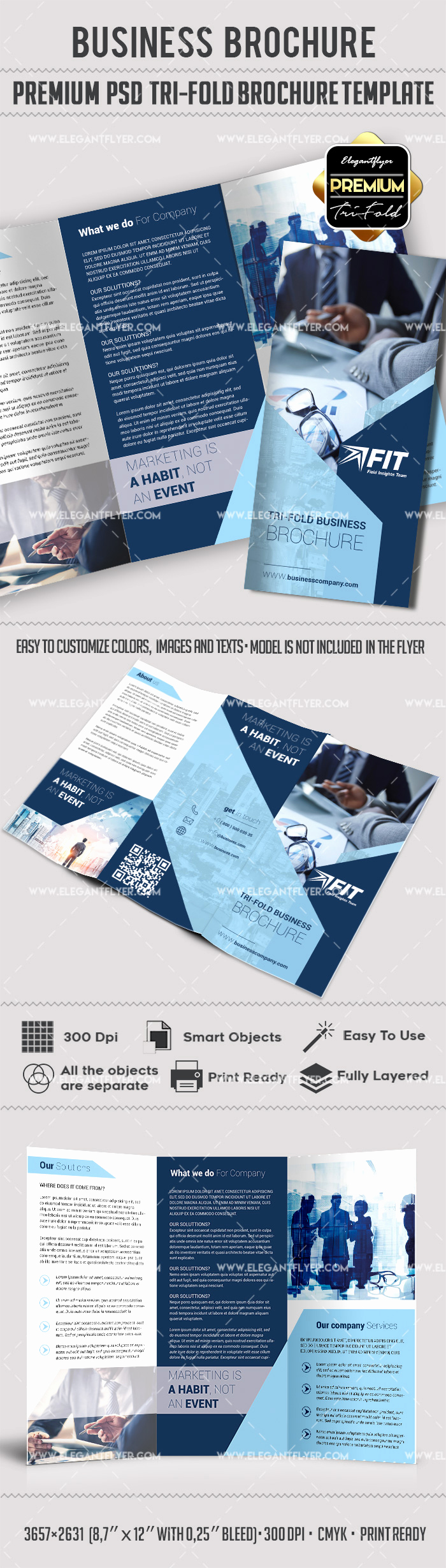 Tri Fold Brochure Template Psd Awesome Shop Brochure Template – by Elegantflyer